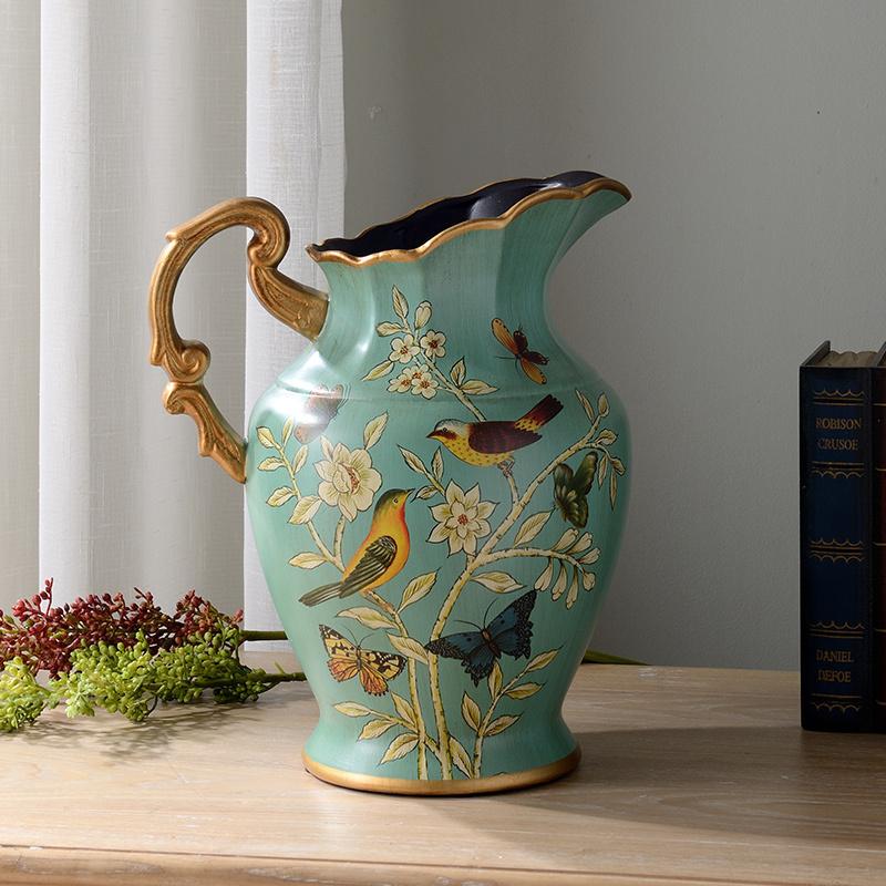 蒂拉美式套装家居装饰花陶瓷花瓶