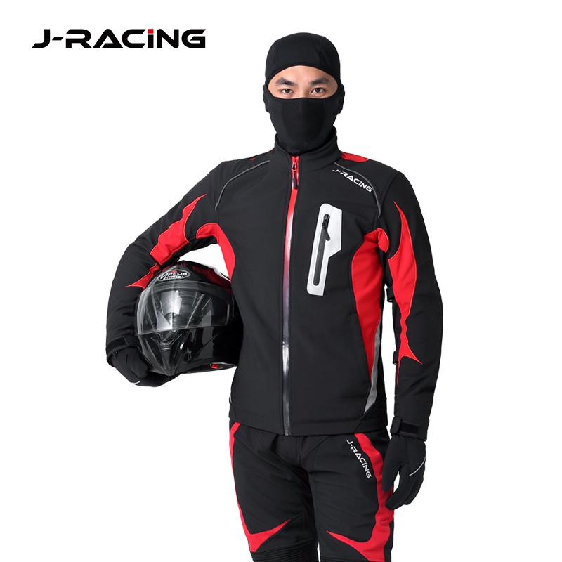 J-racing soft shell motorcycle riding suit pull suit soft shell jacket fall proof waterproof warm autumn and winter riding