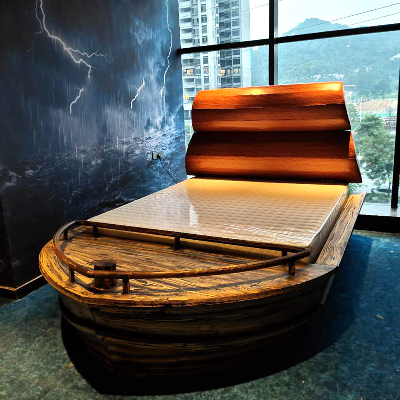 Water bed fun bed home stay furniture hotel bed luxury boutique apartment electric bed theme hotel pirate boat bed