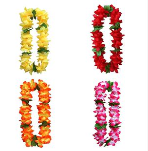 儿童挂脖子花环仿真假花颁奖胸花颈环夏威夷草裙舞蹈艺术表演道具