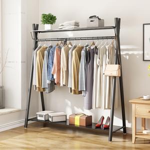 室内落地挂衣架北欧衣帽架卧室简约多功能收纳架家用单杆式晾衣架