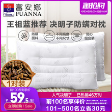 Fuanna Cassia Pillow Single Buckwheat Pillow Core Household Sleep Aid Low Pillow Protecting Cervical Sphinx Pillow Pair