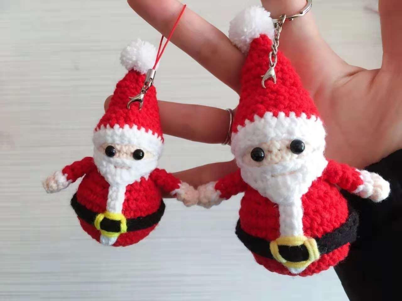 圣诞节礼品手工编织圣诞树挂件礼物圣诞平安果圣诞花环手机挂件