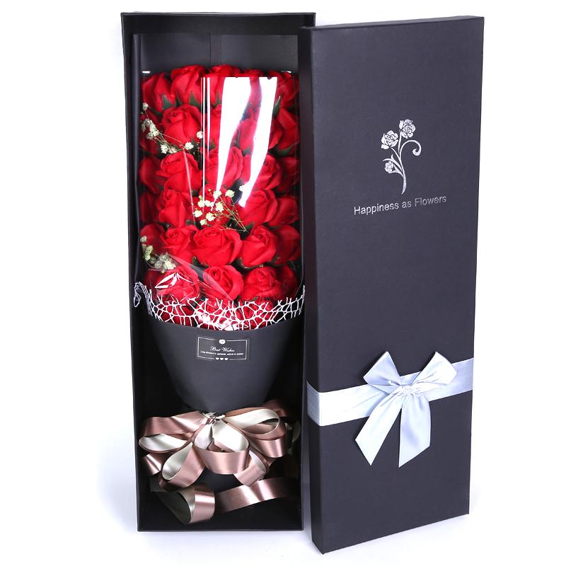 生日礼物女生肥香皂玫瑰花束礼盒教师节礼物女老师实用礼品幼儿园
