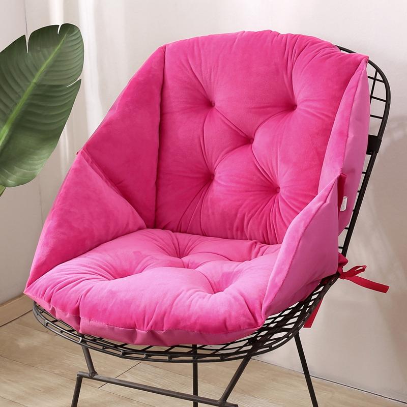 冬季毛绒餐椅垫藤椅加厚保暖坐垫办公室护腰坐垫靠垫一体电脑椅垫