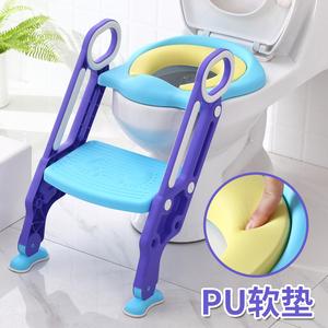 儿童坐便器女宝宝小孩男孩坐垫圈女孩厕所梯椅可折叠楼梯式马桶架