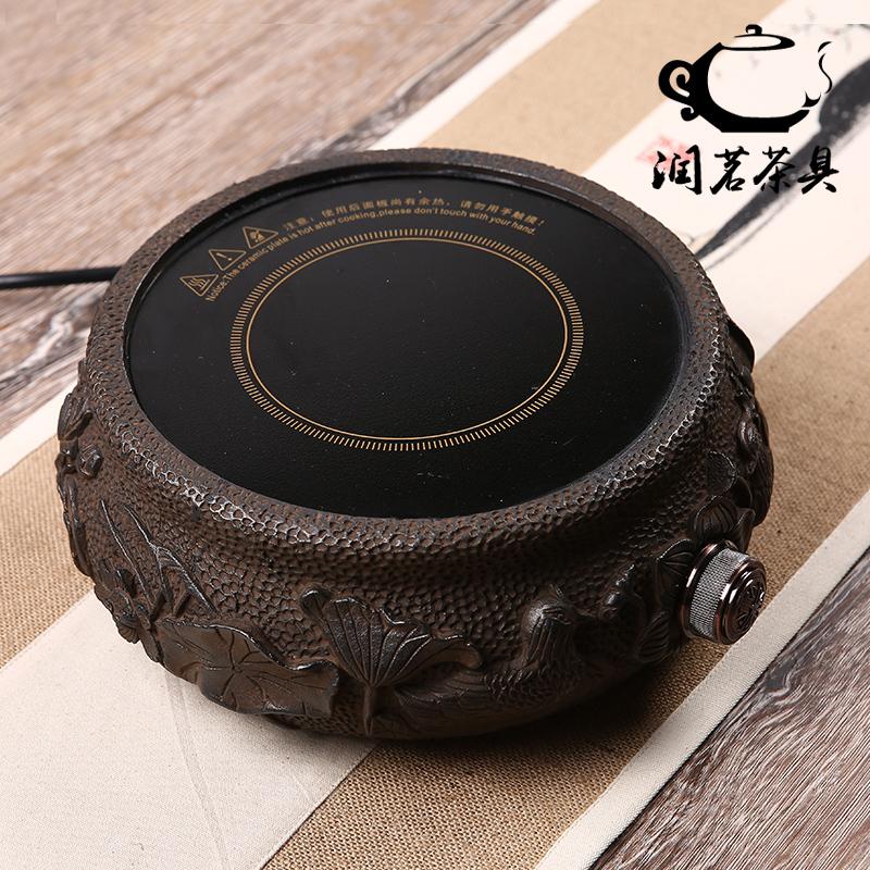 。小型迷你铸铁电陶炉茶炉铁壶铜壶专用煮茶器铸铁茶艺炉煮茶炭火
