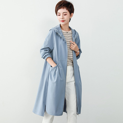 素木旗舰店水云间官方原创大码女装2020秋装新款胖MM长款风衣外套