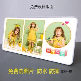 新款创意定做宝宝水晶摆台照片挂墙结婚照相框制作冲印相片拉米娜