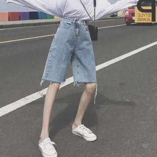 牛仔短褲港風網紅五分褲女寬鬆直筒學生日系港味2020新款ins外穿