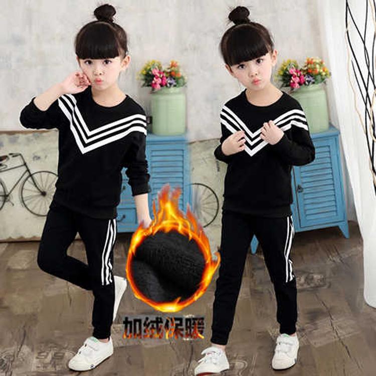 2017韩版秋夏女童套装中大童休闲运动儿童可爱二件套宝宝童装