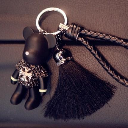 韩国汽车钥匙挂件车用钥匙扣女士适用于大众宝马奔驰奥迪保时捷