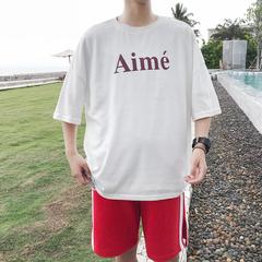 夏季宽松简约字母印花潮流短袖T恤宽松 TT200/p35
