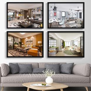 室内装修公司装饰画现代家居室内设计效果图壁画房地产墙面挂画图片