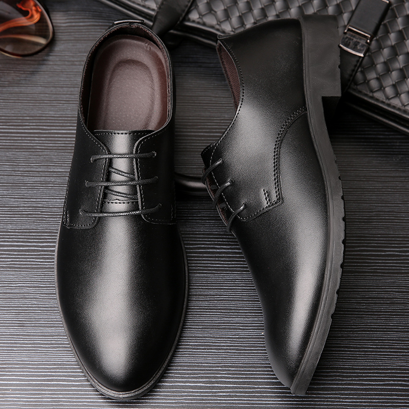 Net red same mens shoes autumn and winter 2019 casual leather shoes mens formal British Plush warm business mens leather shoes