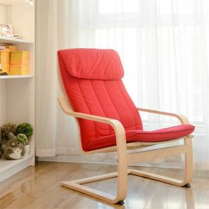 波昂休闲椅家用懒人沙发椅布艺单人简约扶手椅网红午休摇椅