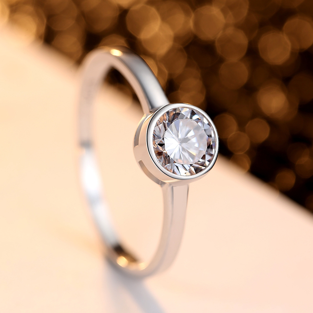 Pag-mag S925 pure silver lady ring simple Ruili engagement Silver Ring