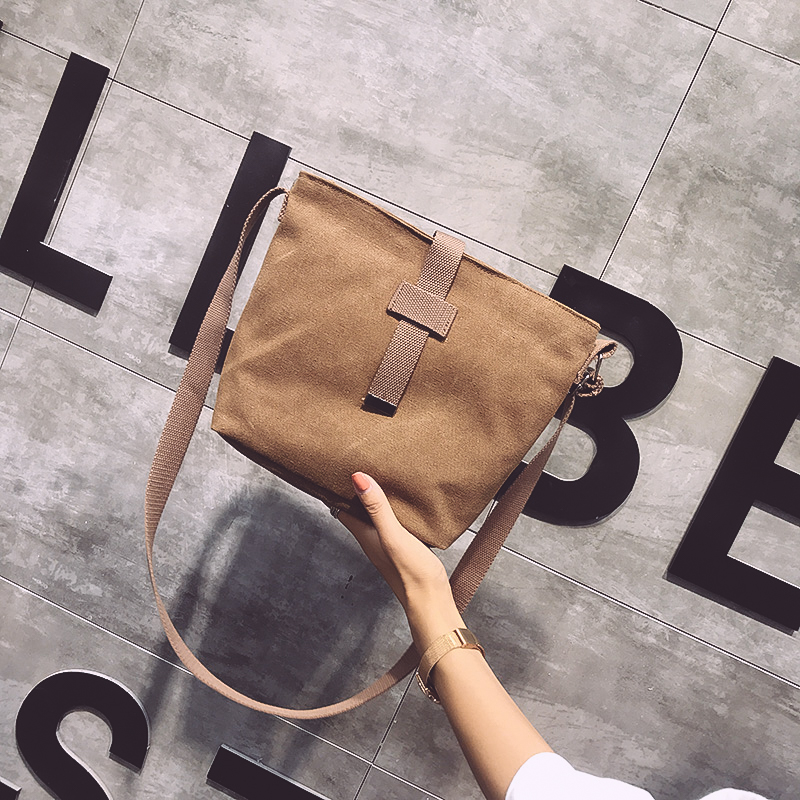 Japanese Harajuku retro postmans bag students thickened Canvas Backpack for men and women