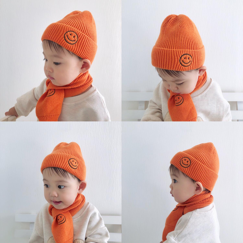 宝宝保暖套装男童帽子两件套冬天
