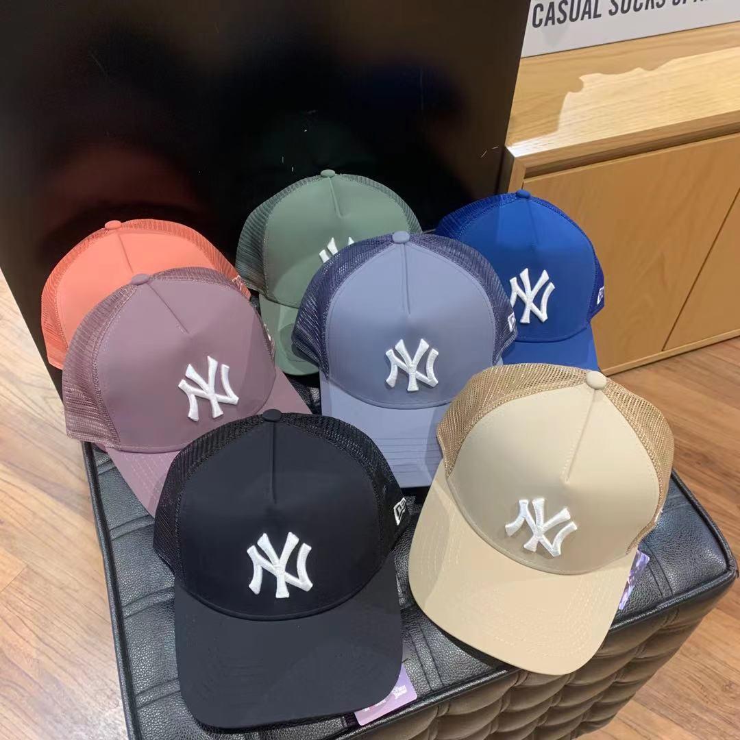 韩国直邮正品新款NEWERA纽亦华马卡龙网眼硬顶棒球帽透气鸭舌帽