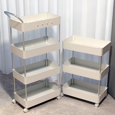 小推车置物架厨房卫生间可移动带轮储物架子家用多层放零食收纳架
