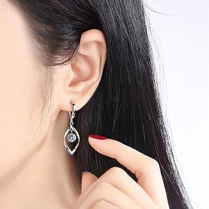 纯银耳环女短款耳坠耳扣韩国气质网红2020年新款潮个性耳饰防过敏