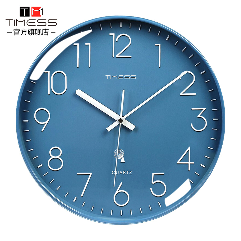 TIMESS电波钟钟表挂钟客厅家用时尚时钟挂墙轻奢装饰大气创意挂表