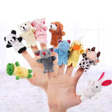 动物手指偶手偶讲故事玩偶新生儿安抚亲子玩具幼儿园语言区域材料