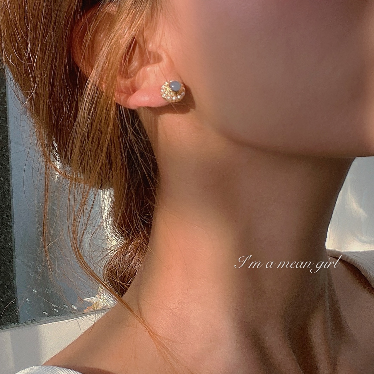 Coco ? 925 silver needle French retro pearl Opal Earrings