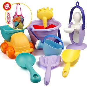 软胶沙滩玩具套装儿童洗澡玩具小孩戏水挖沙子宝宝铲子沙漏工具