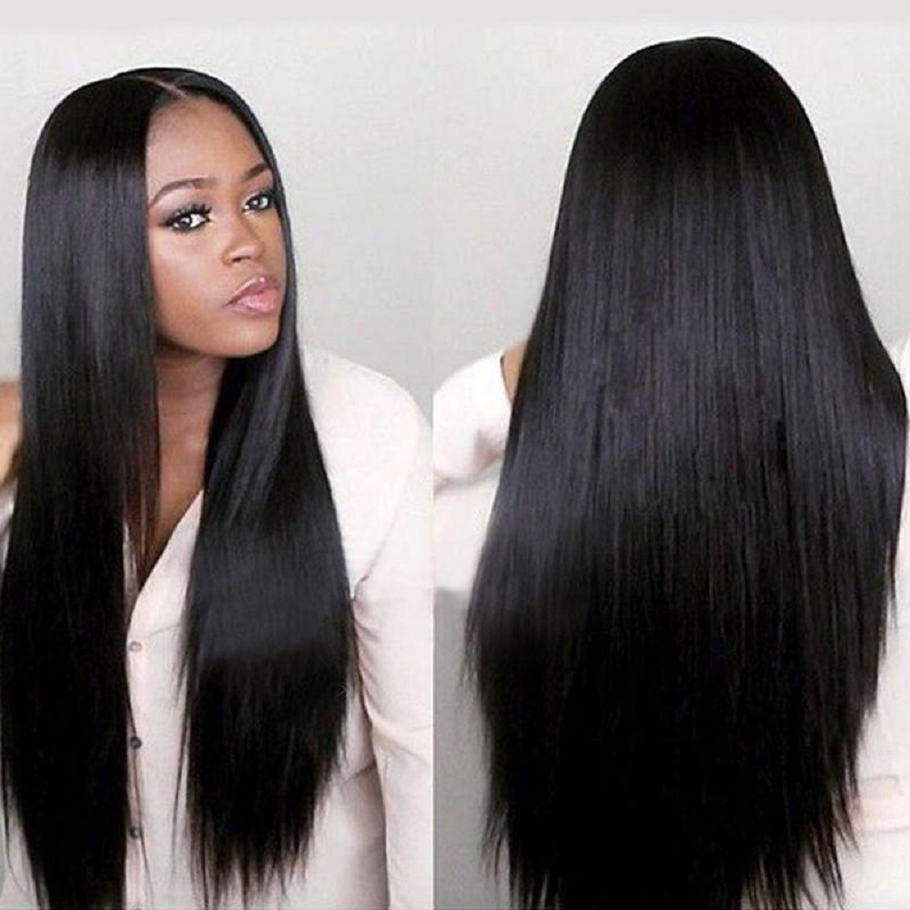 Quick selling wig role play popular wig womens fashion face trimming medium split long straight hair manufacturer
