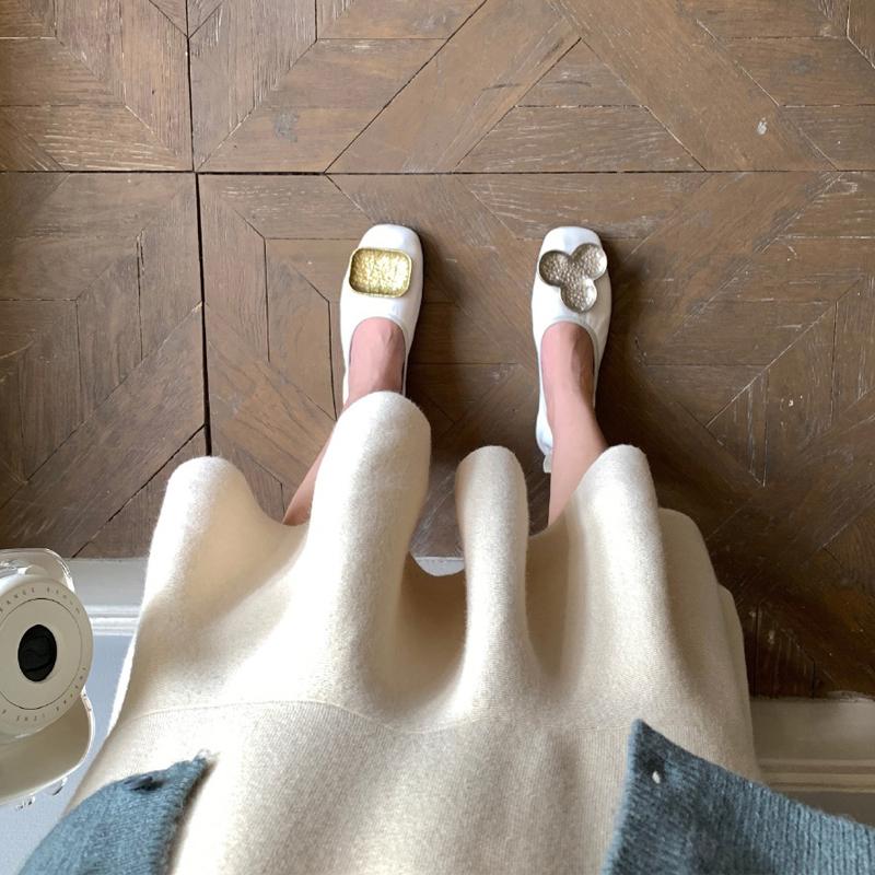 (用3元券)平底鞋女2019新款奶奶鞋方头鸳鸯鞋