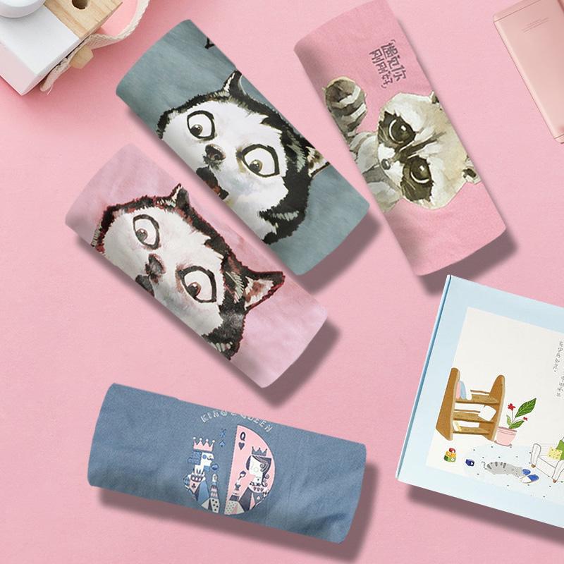 女士三角内裤女莫代尔纯棉卡通少女日系可爱甜美搞怪韩版学生女生