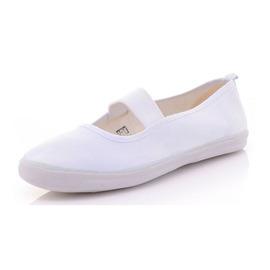 正品青岛双星体操鞋松紧口男女儿童小白鞋工作鞋学生运动鞋