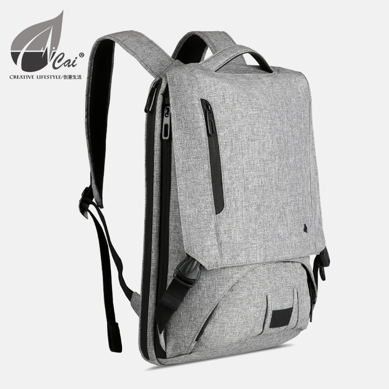 Cai business backpack male Lenovo computer bag 14 inch ultra thin portable notebook backpack business trip