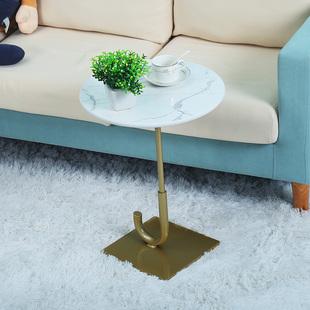沙发边几简约现代大理石圆形边桌轻奢卧室可移动小茶几小桌子角几价格