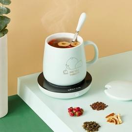 小熊55度恒温杯垫暖暖杯加热牛奶器温奶器家用保温碟水杯底座板图片