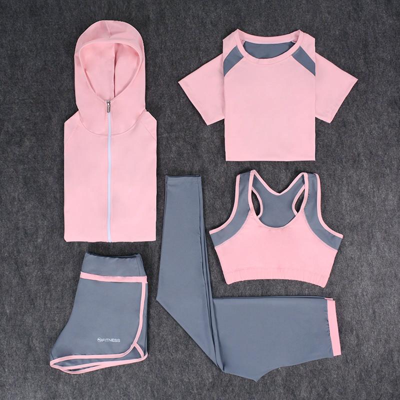 瑜伽服网红新款健身房运动套装女秋冬季跑步速干衣显瘦长袖健身服