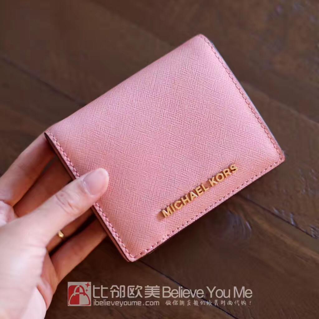 美国代购 MK 2F6GTVD1A card case折叠短款小钱包 直邮邮包邮包税