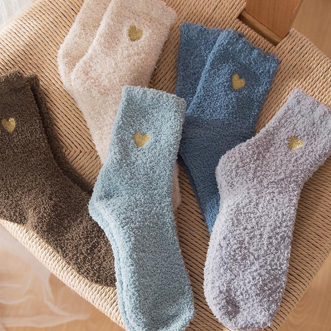 加绒地板睡眠袜孕妇袜 月子袜子纯棉产后秋冬产妇宽松松口韩国加厚