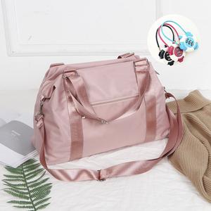 网红短途旅行包女学生轻便健身包运动包可套拉杆可爱行李袋手提女