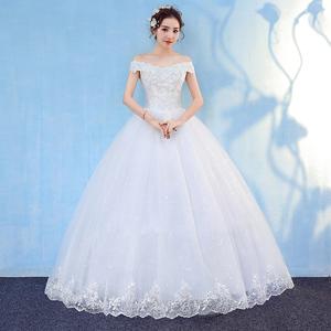 婚纱礼服2019新款森系新娘法式简约一字肩夏季齐地孕妇显瘦超仙女