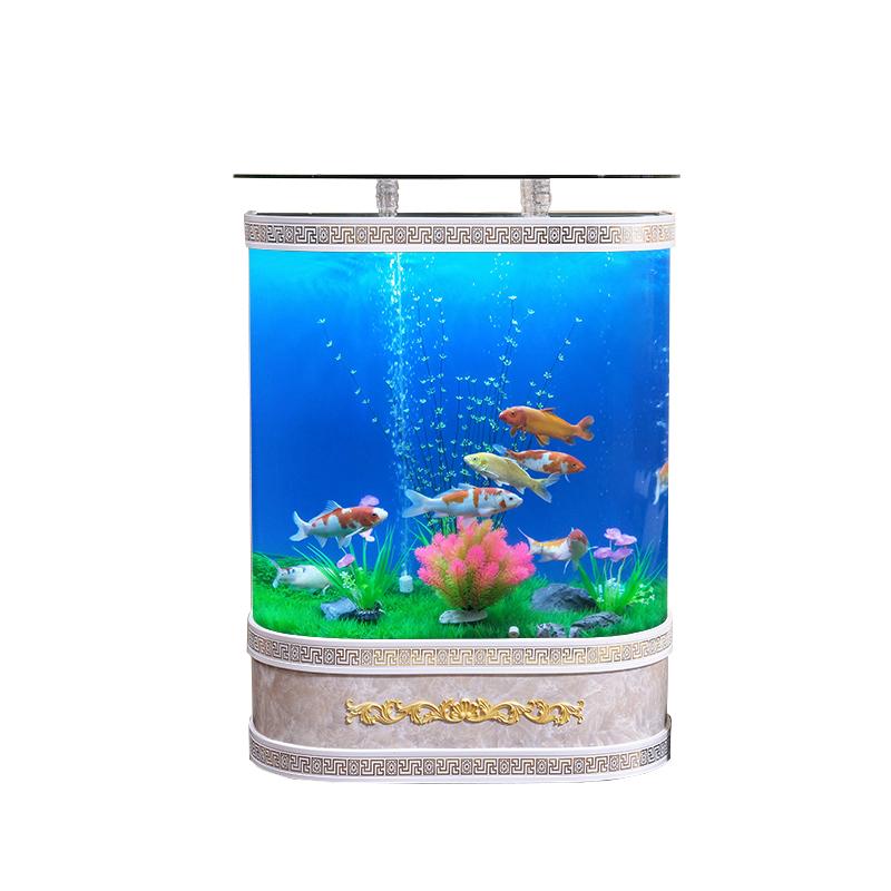 金鱼缸客厅小型超白玻璃生态草造景限时2件3折
