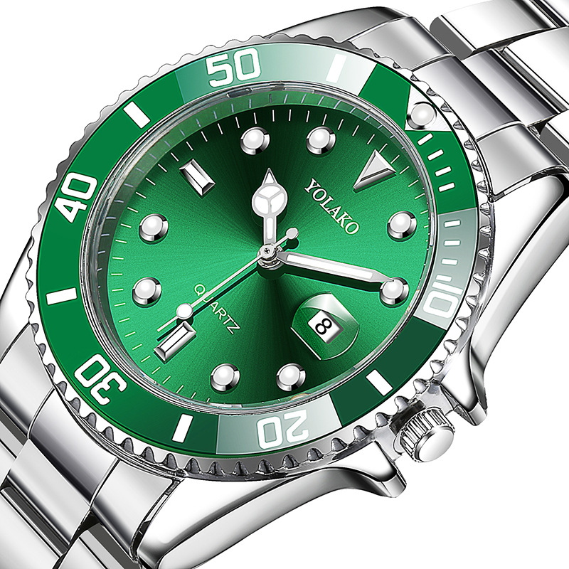 2021 new water ghost watch mens watch mens calendar boutique steel band domineering quartz watch with mens Watch