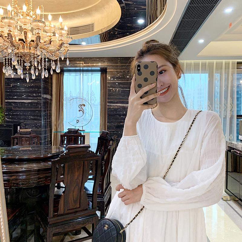 很仙的白色初恋女小个子2019连衣裙(用120元券)