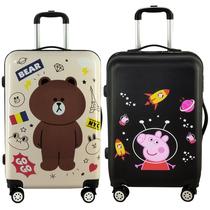 涂鸦卡通行李箱万向轮韩版可爱大小学生儿童男女拉杆旅行箱小清新