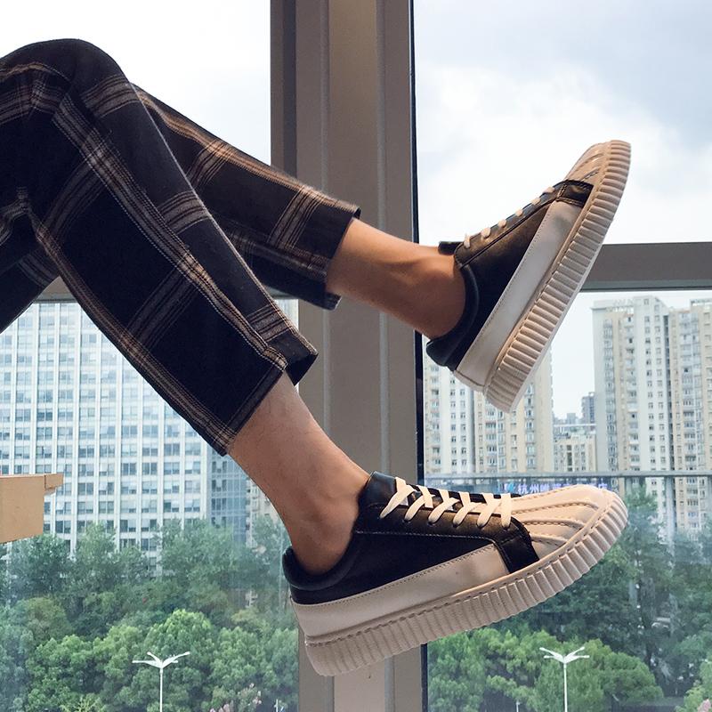 2021新款春夏贝壳头男鞋韩版潮流英伦百搭鞋子男港风学生低帮板鞋