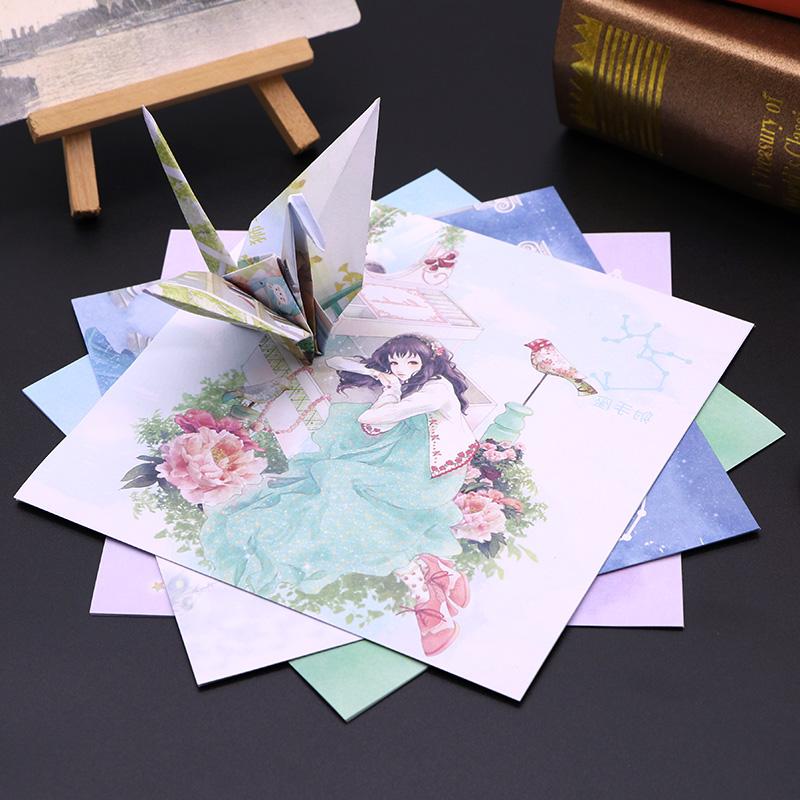 Colorful paper thousand paper crane origami 15cm square antique twelve constellations childrens handmade paper printing star sky paper