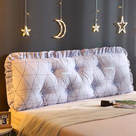 韩版床头板大靠垫软包可拆洗布艺大靠背床上抱枕双人靠枕公主风
