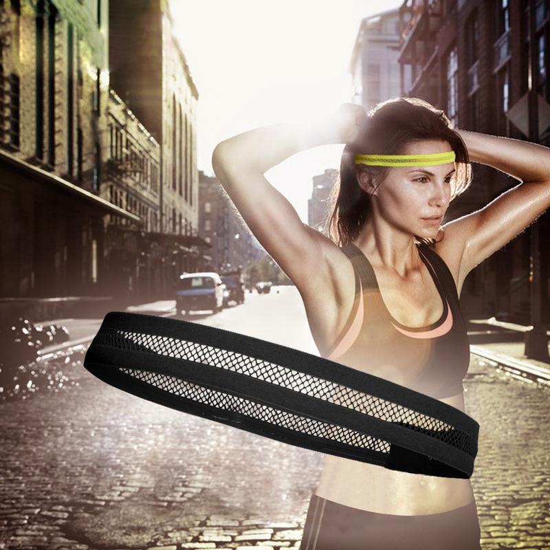 迈路士跑步健身导汗带运动头带排汗带男女网状排球足球黑色发带